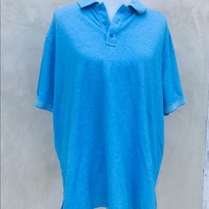 Nordstrom pique knit polo blue